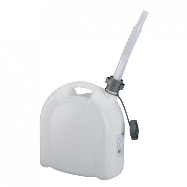 PRESSOL Wasserkanister 10 l aus HDPE mit Ablasshahn und flexiblem Auslaufrohr,